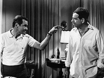 Jack Lemmon Pointing At Walter Matthau